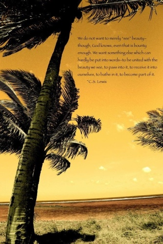 Coconut Tree & CS Lewis on Beauty