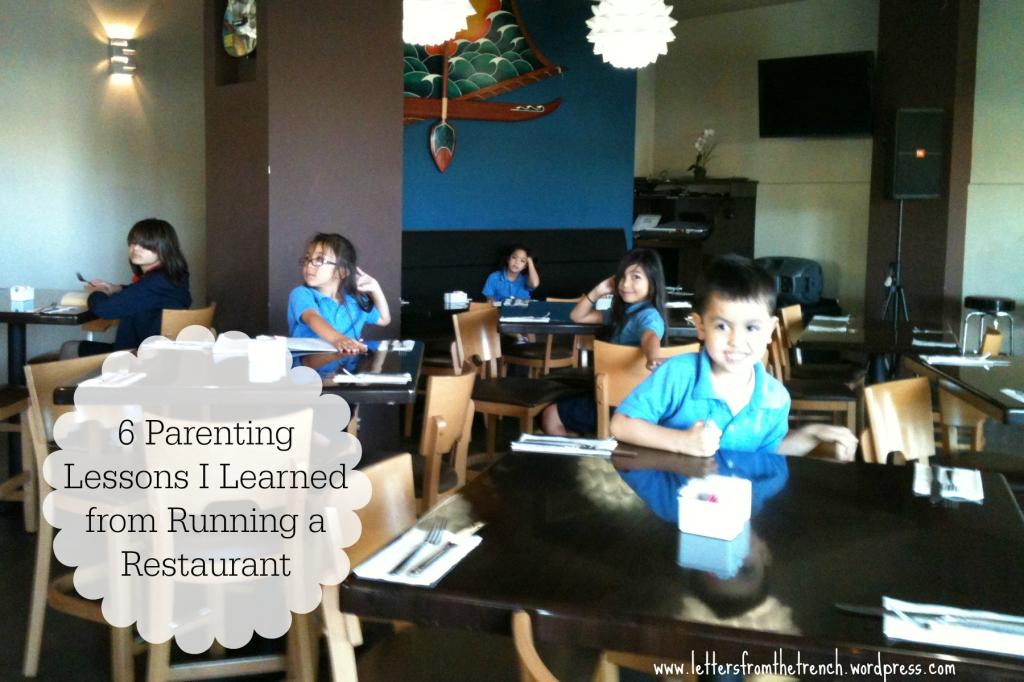 My kiddies getting homework done at the restaurant.